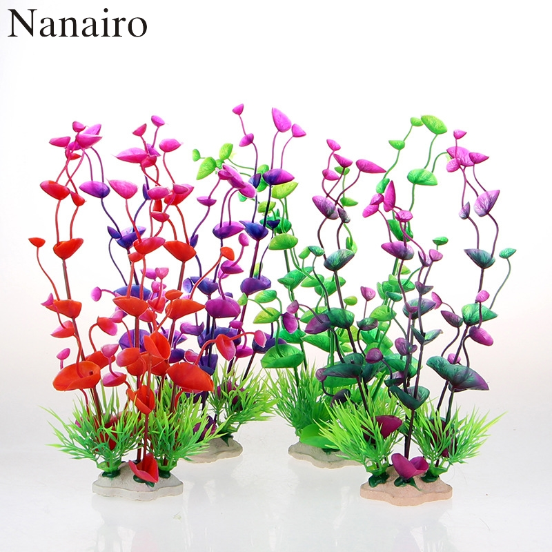 2016 Pvc Fish Tank Aquarium Decor Green Artificial Plastic Underwater Grass Plants Aquarium Accessories Decoration For Aquarium