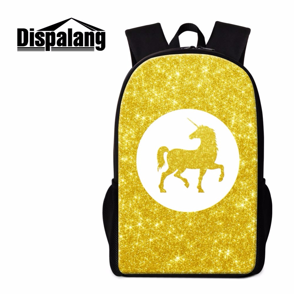 Dispalang Back to School Backpack Patterns Unicom Bookbags Lightweight Back Pack Girly Rucksacks Cool Mochilas for Teen Boys