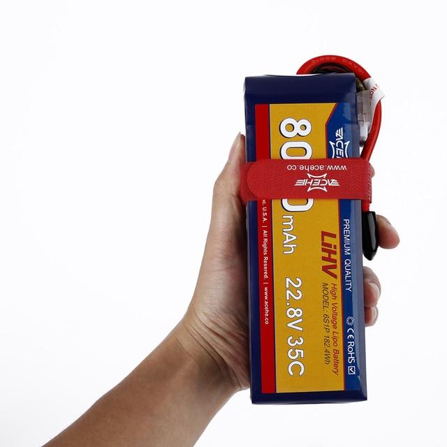 1pcs Acehe 22.8V 8000mAh/10000mAh 35C 6S1P 182.4Wh/228Wh XT60 Plug High Voltage Lipo Battery