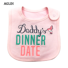 2017 AGLDI Brand Baby Girl Boy Waterproof Carter Cartoon Towel Kids Toddler Dinner Feeding Bibs Bandanas Burp Cloths baby bibs(China)