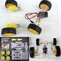 Alta calidad inteligente diy motor de dirección 4 rueda 2 motor robot elegante chasis car kit diy kit para arduino robot