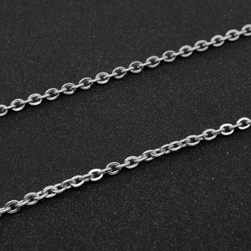 JUCHAO Jewelry Findings Components Stainless Steel Necklace Titanium Steel Chain Diy Men Women Jewelry Accessories O-Chain