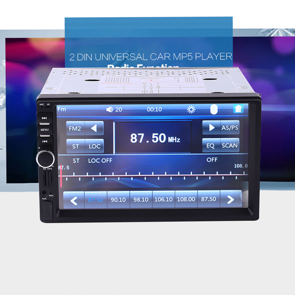 New 7 inch Car GPS Stereo FM Radio Bluetooth No DVD With North America Map 7 hd 2din car stereo bluetooth mp5 player gps navigation support tf usb aux fm radio rearview camera fm radio usb tf aux