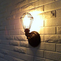 KC personality balcony retro American country Coffee iron lamp shade hall bar light warehouse cage