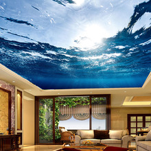 Custom Any Size 3D Mural Wallpaper Underwater World Suspended Ceiling Fresco
