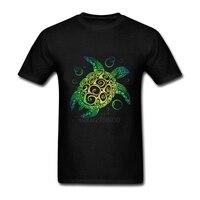 Algodão 3d t shirt homens 2018 verão novo arrvial 3D engraçado T-shirt do homem Da Tartaruga de mar estendido plus size 3XL preto branco azul