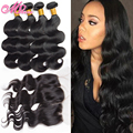 13x4 Ear To Ear Lace Frontal Closure With Bundles Indian Body Wave Virgin Hair With Closure Inidan Human Hair With Lace Frontal