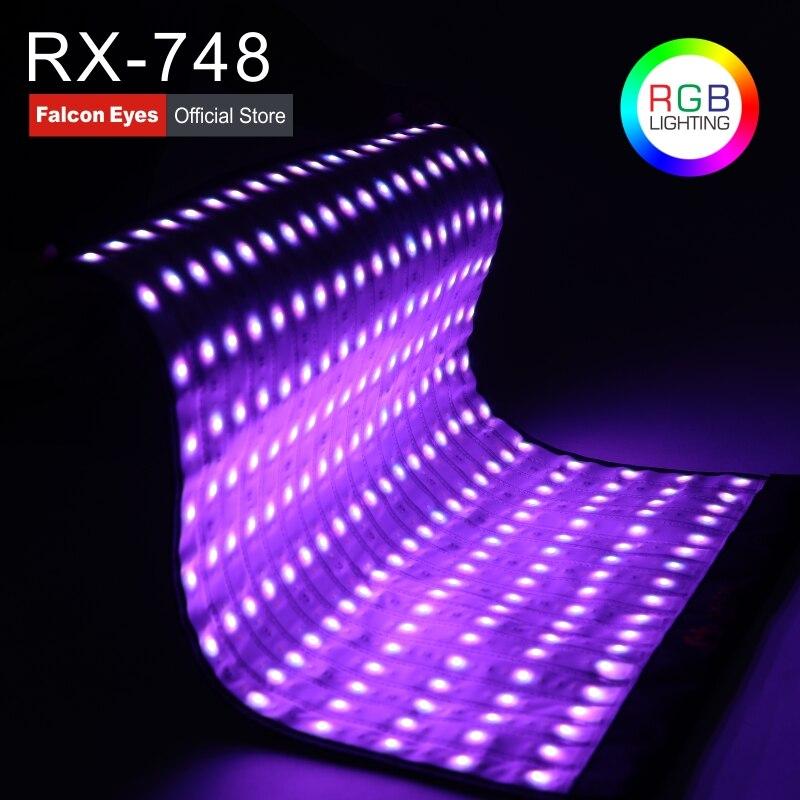 Falcon Eyes 4x2 pieds 300 w LED RGB fotografia Caméra Lumière Flexible Imperméable À L'eau Continue Pour Dslr Vidéo Éclairage studio RX-748