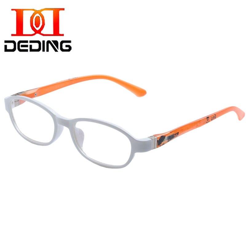 DEDING Kids Safe Material TR90 Eyeglasses Clear Lens Glasses With Spring hinge Boy Girl Children Eyewear Frame Size 47mm DD1373