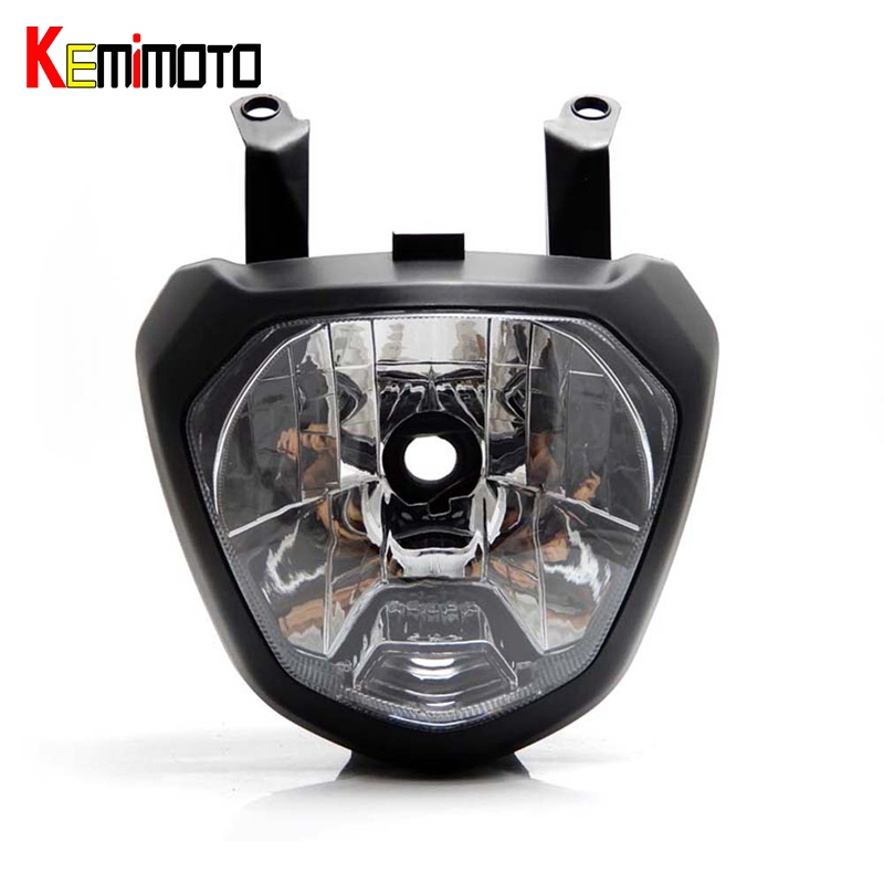 KEMiMOTO MT 07 FZ 07 MT07 Front Head Light Headlight For Yamaha MT-07 FZ-07 2014-2017 Motorcycle Lighting Headlamp Replacements