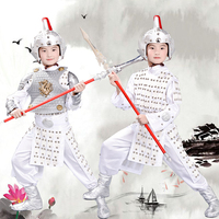 Ancient Chinese general armor costume halloween cosplay clothes soldier cosplay white warrior costumes carnival cosplay