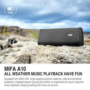 Image 4 - Alto falante portátil mifa a10, wireless, som estéreo, sistema de 10w, mp3, áudio aux com microfone para música iphone do android, iphone