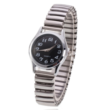 Stainless Steel Band Alloy Lovers Business Quartz Movement Wristwatch Elastic Strap Band Couple Wris