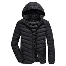 New Tace & Shark brand ultra thin down jacket men hat detach