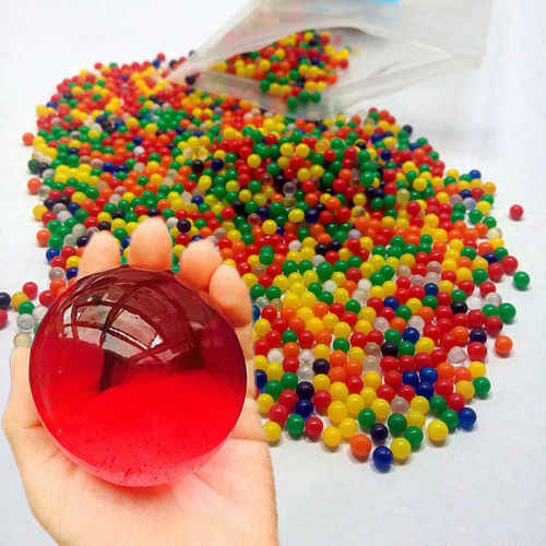 10000pcs/packet colored orbeez soft crystal water paintball gun bullet grow water beads grow balls water gun toys crystal soil