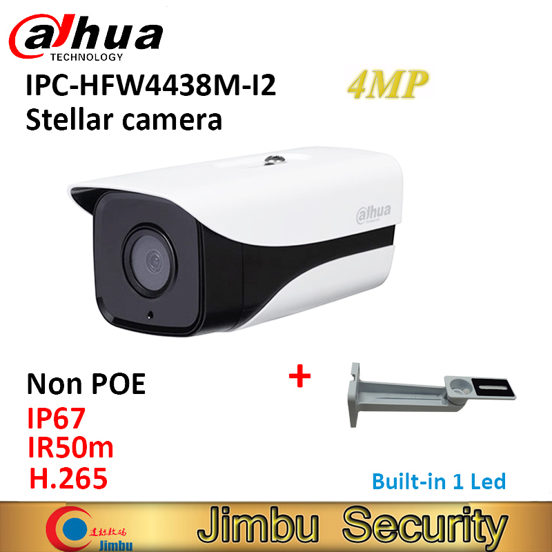 цены Dahua starlight IP camera IPC-HFW4438M-I2 IR50m 4MP Network camera H.265 H.264 ONVIF Full HD IP67 with bracket
