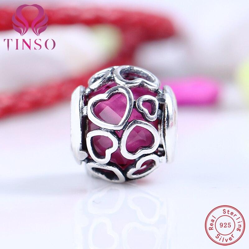 2017 Jour de Valentine Authentique 925 Bijoux En Argent Sterling Amour Charms Fit Pandora Bracelet Bracelet DIY D'origine Fabrication de Bijoux