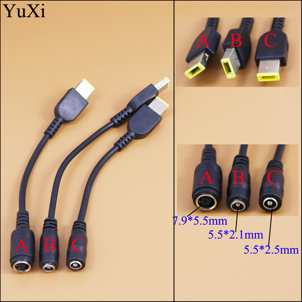 5.5*2.5 Male To 7.9*5.5 Female DC Power Charger Adapter Tips For Lenovo Thinkpad