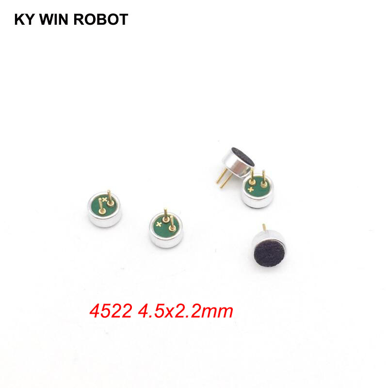 5 PCS/LOT 4.5x2.2mm 4522 Microphone Electret Microphone With 2 Pin Pick-up