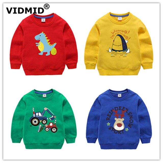 VIDMID Chàng Trai trẻ em T-Shirt Bé Trai Quần Áo Trẻ Em mùa thu sweatershirt áo tops Trẻ Em của áo len mui xe quần áo mùa xuân 7060 03