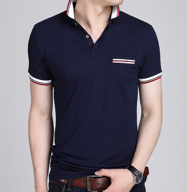 2017 New Men POLO Shirt Fashion Polo Homme Slim Fit Short-sleeve Camisa Polo shirts Men's Summer Tops&Tees