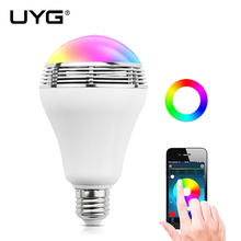 UYG Smart LED Bulb Light Wireless Bluetooth Speaker Colorful Dimmable E27 3W Lamp APP Remote Control for Android iphone