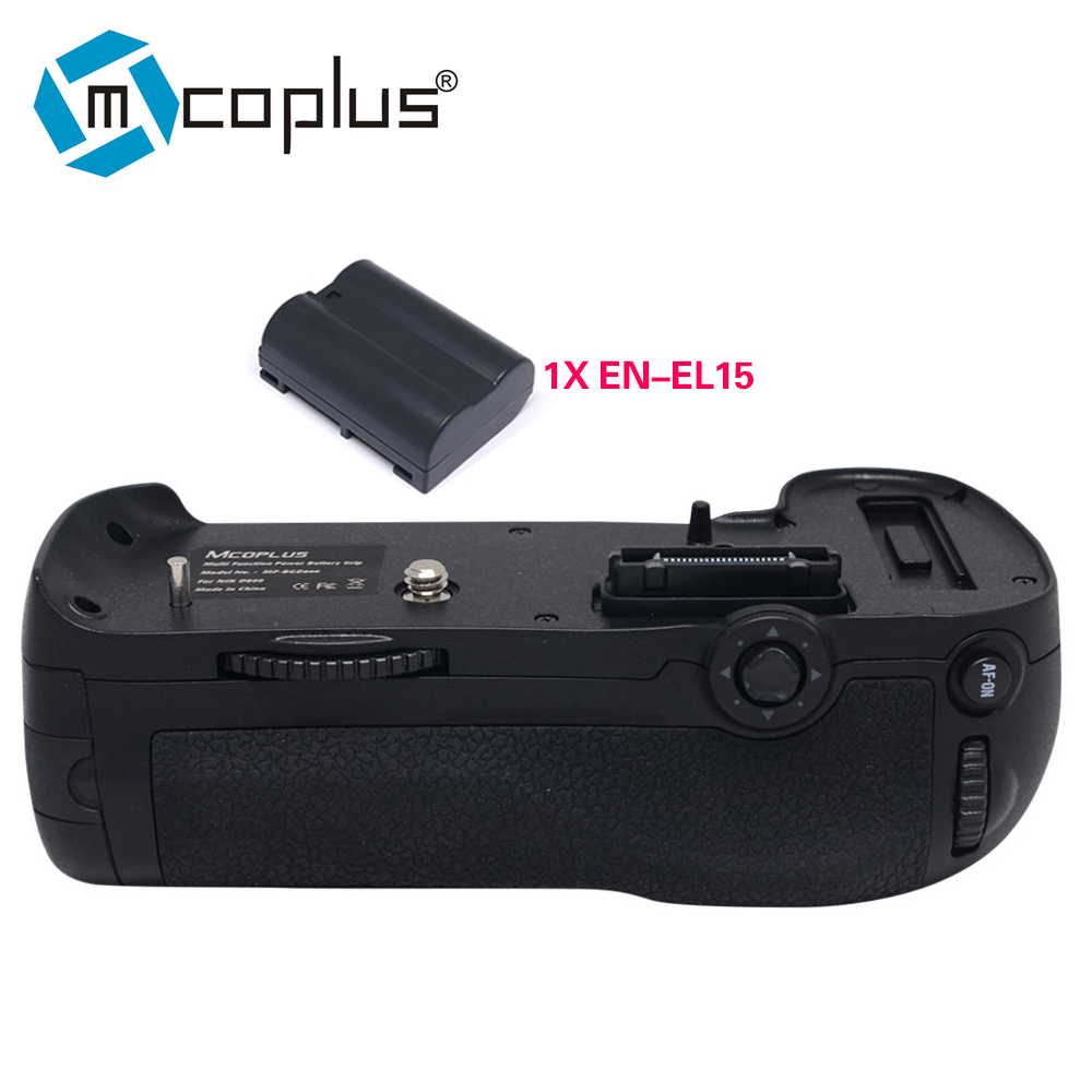 Mcoplus Venidice VD-D800 Vertical Battery Grip with 1pcs EN-EL15 Battery for Nikon DSLR D800 D800E Camera as MB-D12 as MK-D800 meike mk d500 vertical battery grip shooting for nikon d500 camera replacement of mb d17