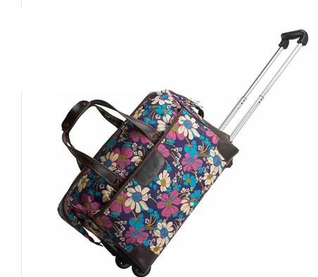 Travel Trolley bags Women wheeled Rolling bags Carry On Duffle Travel Luggage bag with wheels suitcase Travel bags hand luggage vintage suitcase 20 26 pu leather travel suitcase scratch resistant rolling luggage bags suitcase with tsa lock