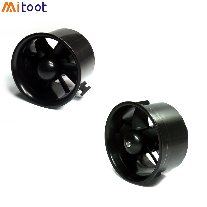 55mm 64mm 70MM 90MM 6 Blades Ducted Fan System EDF For Jet Plane With Brushless Motor RC Plane EDF RC