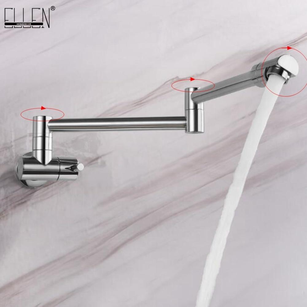 Robinet de cuisine mural robinets muraux simples à froid robinet d'eau pliant à 360 degrés ELK0024 - 2