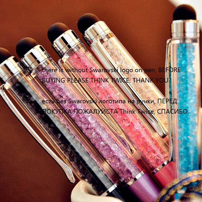 QSHOIC 100 pièces/ensemble en gros stylet stylo en métal différentes couleurs stylo en cristal