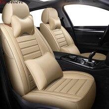 Car Believe car seat cover For bmw e46 e36 e39 accessories e90 x5 e53 f11 e60 f30 x3 e83 x1 f10 cover for vehicle seat protector цена 2017
