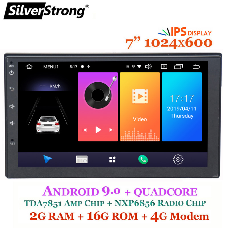 SilverStrong Android9 0 IPS Car 2DIN Universal Radio GPS Stereo DSP two din auto radio with