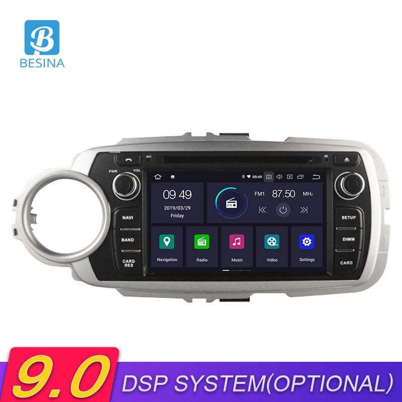 Besina Android 9.0 lecteur multimédia de voiture pour Toyota Yaris 2012 2013 2014 2015 2016 2017 DVD VD GPS Navigation stéréo Radio Audio