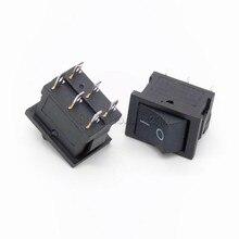 10PCS Push Button Switch 15mmx21mm 6PIN 6A 250V 10A 125V ON/OFF Rocker Switch 15X21mm