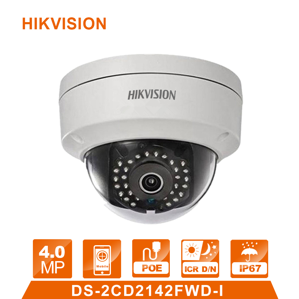 Original DS-2CD2142FWD-I English version 4MP Replace DS-2CD2132-I CCTV camera IP Camera WDR Fixed Dome Network Camera in stock english version ds 2cd2142fwd i support h 264 ip66 ik10 poe 4mp wdr fixed dome network camera