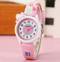 2016 Kezzi Top Brand Kids Children Fashion Watches Quartz Analog Cartoon Leather Strap Wrist Watch Boys