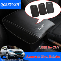 QCBXYYXH Car Armrest Pad Cover Center Console Auto Armrests Box Pads Leather Storage Protection Cushion For Honda CRV CR V 2017
