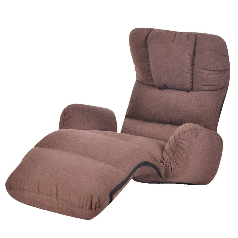 Upholstered Armchair Floor Seating Furniture 4 Colors Modern Folding Lazy Sofa Chair Sleeping Daybed Chaise Lounge