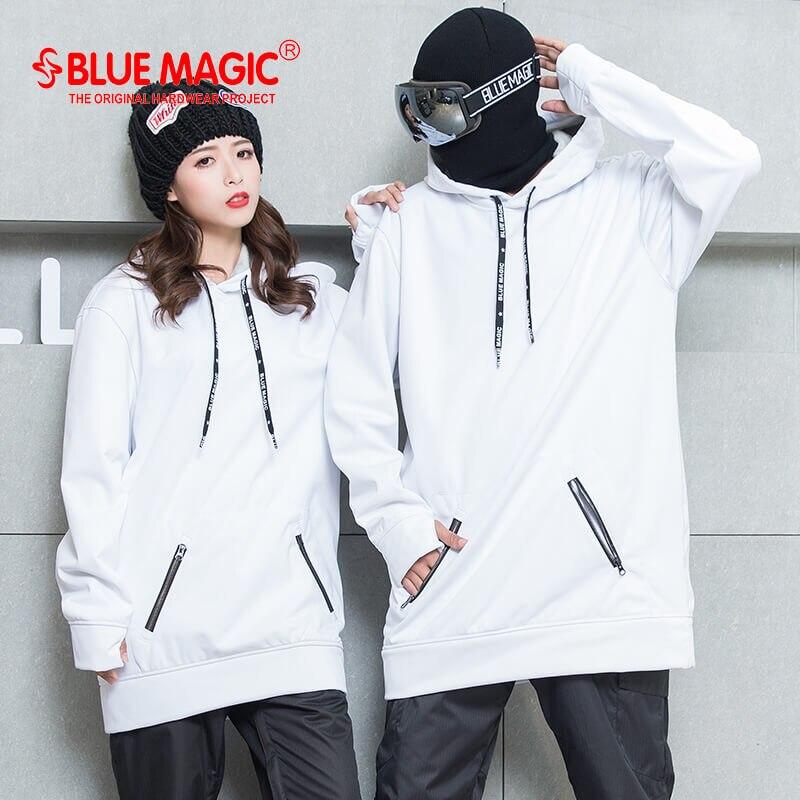 Bluemagic сноуборд мягкая оболочка Комбинированная ткань Длинная толстовка для женщин и мужчин водонепроницаемые толстовки ветрозащитные лыжные костюмы - Цвет: white for woman