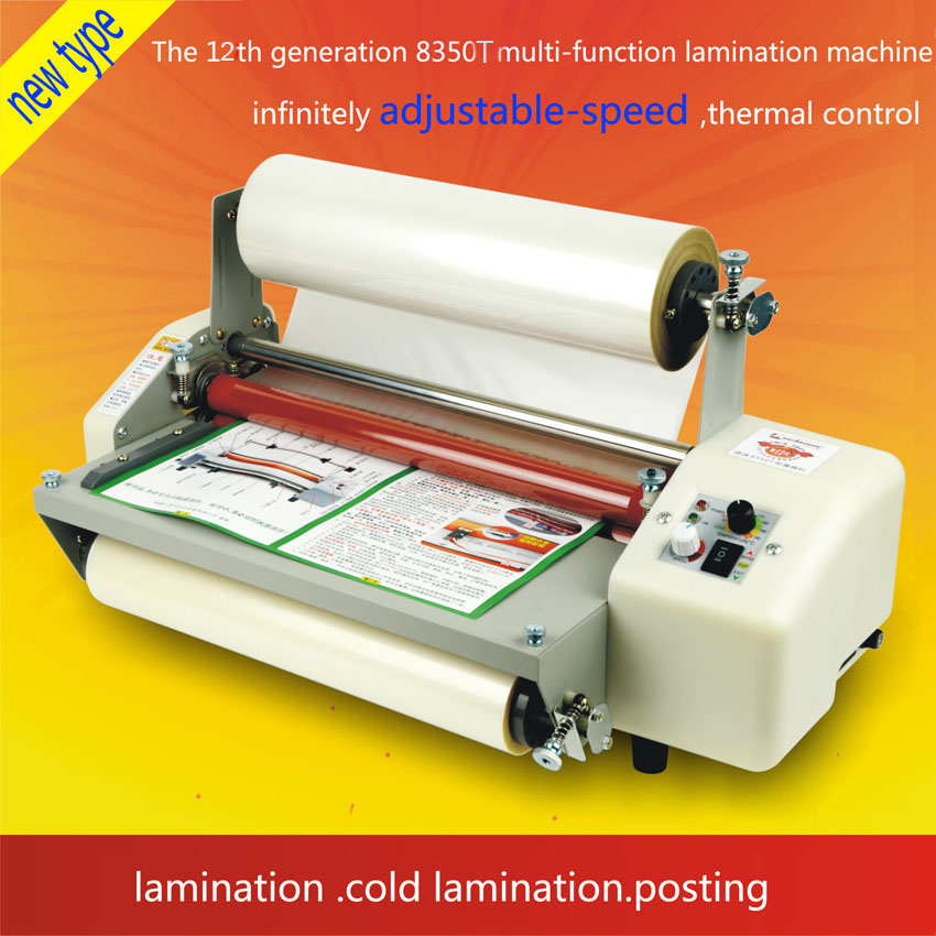 1pc  12th 8350T  A3+ Four Rollers  Laminator  Hot Roll Laminating Machine,High-end speed  regulation laminating machine 1pc 12th 8460t a2 multi function laminator hot roll laminating machine high end speed regulation laminating machine