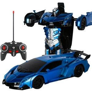 Image 4 - Voiture robot RC 2 en 1, télécommande, robot à déformation RC sans fil, modèles RC, conduite, Transformation sportive, jouet pour enfants, cadeau
