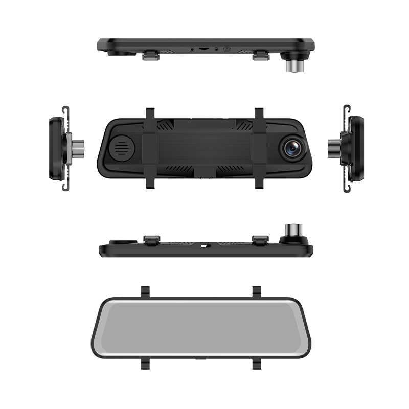 """Traço cam 10 """"córrego espelho retrovisor tela sensível ao toque super visão noturna 1080 p carro dvr câmera gravador de vídeo auto registrador dashcam"""