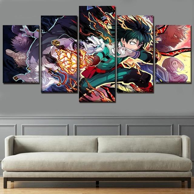 Canvas Prints 5 Piece Anime Boku no Hero Academia