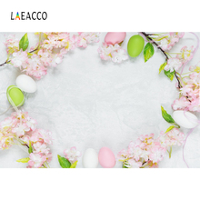 Laeacco Easter Eggs Flowers Baby Newborn Child Party Photography Backgrounds Customized Photographic Backdrops For Photo Studio s 3227 easter eggs easter basket wood floor baby newborn child photo background photography backdrops