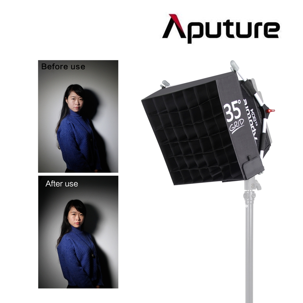 2016 New Arrival Aputure Diffuser Softbox with Grid Easy Box+ Diffuser Kit for Aputure Amaran HR672 AL-528 Professional Lighting все цены