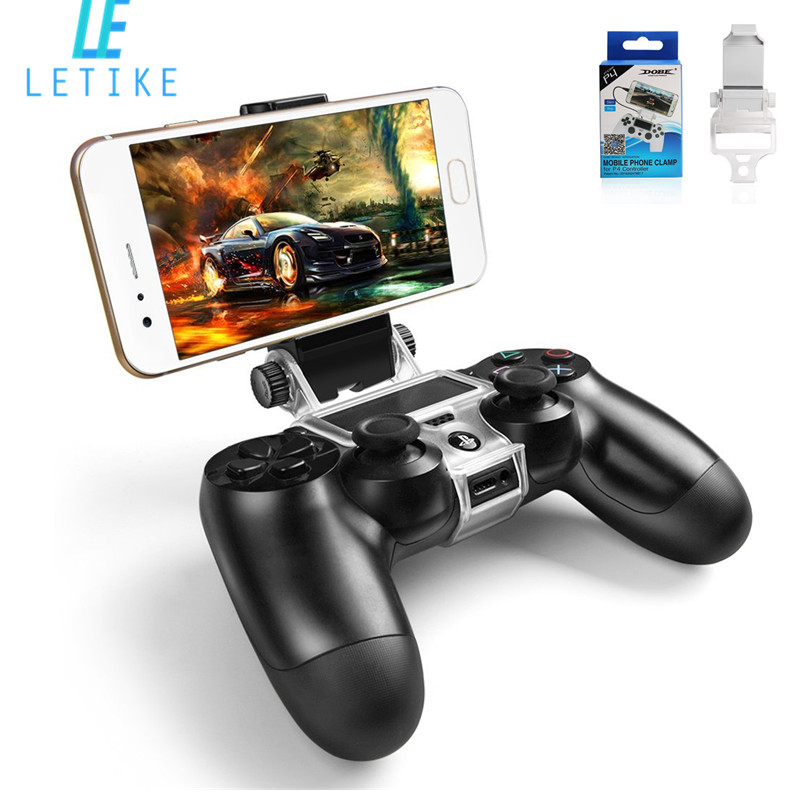 180 Degree Adjustable Mount Stand PS4 Wireless Controller (Tobacco Pipe) Phone Clip Holder for Playstation 4 PS4 Slim / PS4 PRO