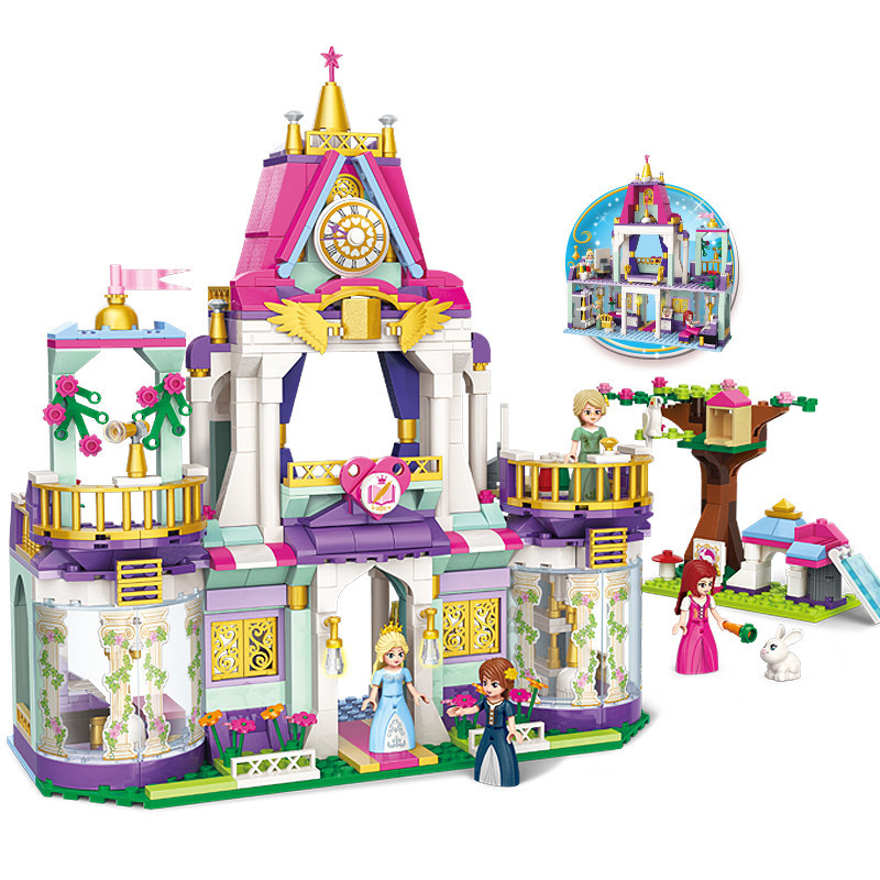 628pcs Princess Castle Series Children s building blocks toy Compatible city girl friends Royal Winston College