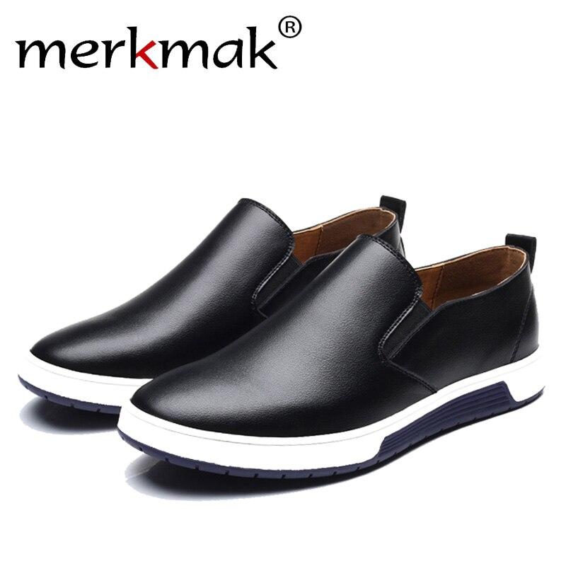 Merkmak invierno de los hombres botas de cuero mocasines zapatos de moda de algodón cálido tobillo marca botas de los hombres calzado zapatos envío gratis