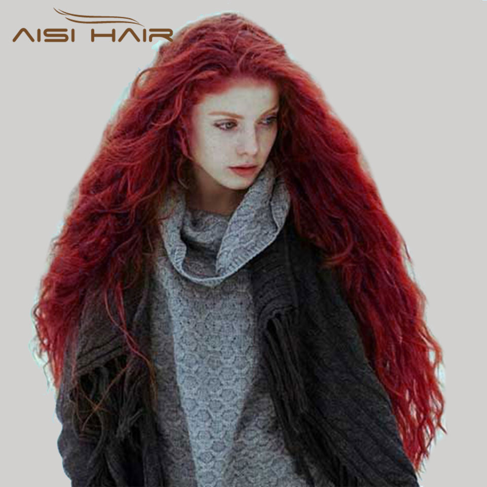 """'s wig 30"""" synthetic red black"""